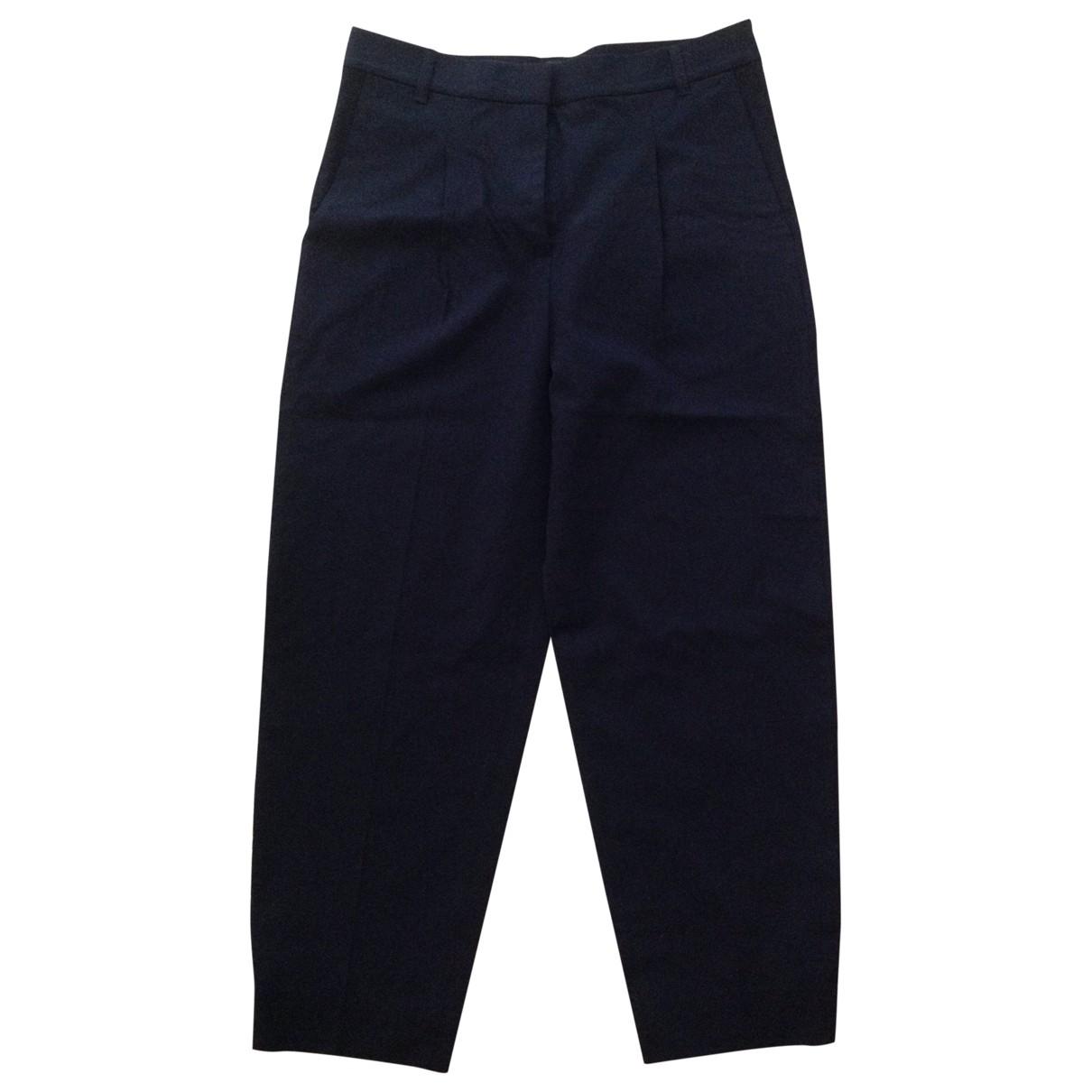 Cos \N Navy Wool Trousers for Women 36 FR