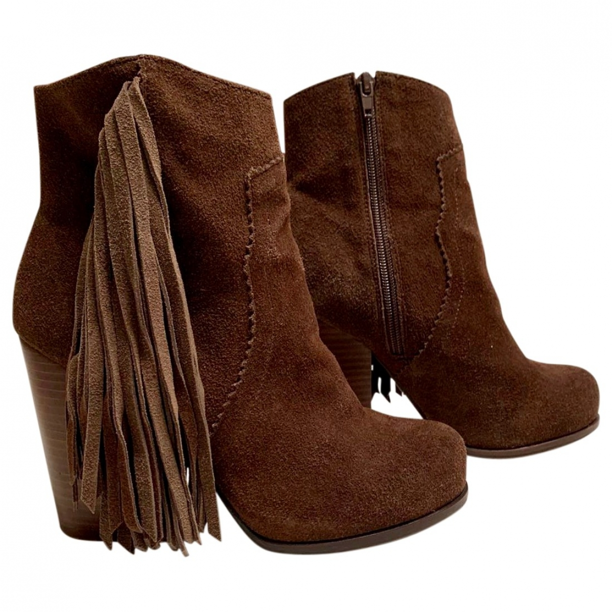 Jeffrey Campbell \N Brown Suede Ankle boots for Women 37 EU