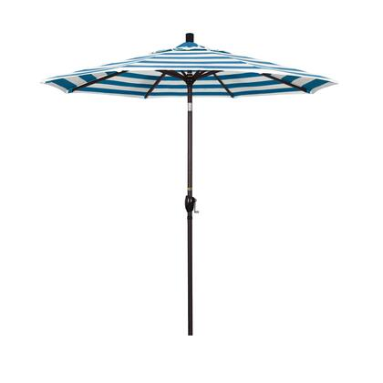 GSPT758117-58029 7.5' Pacific Trail Series Patio Umbrella With Bronze Aluminum Pole Aluminum Ribs Push Button Tilt Crank Lift With Sunbrella 2A