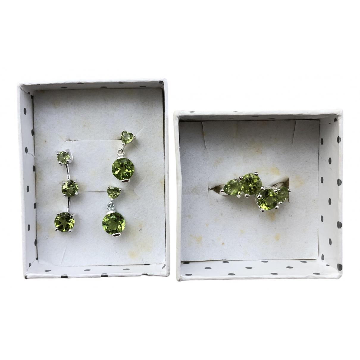 - Parure   pour femme en metal - vert