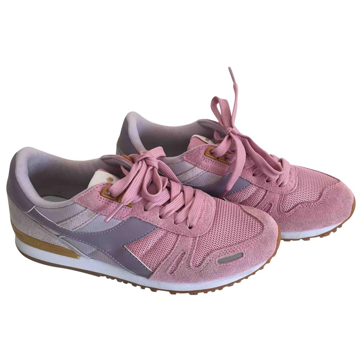 Diadora \N Sneakers in  Rosa Leinen