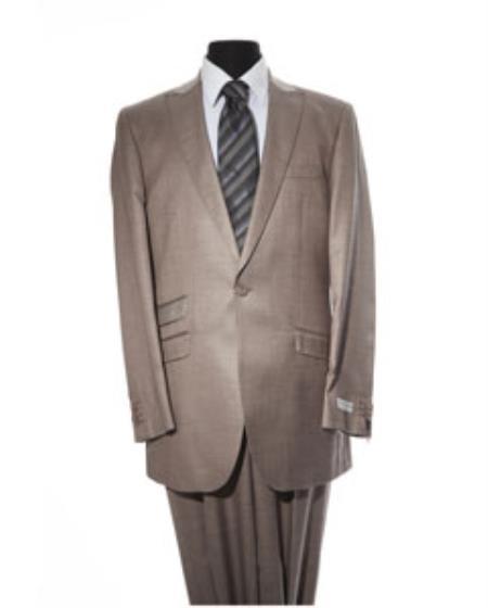 Mens Tan 2 Button 2 Piece Suit