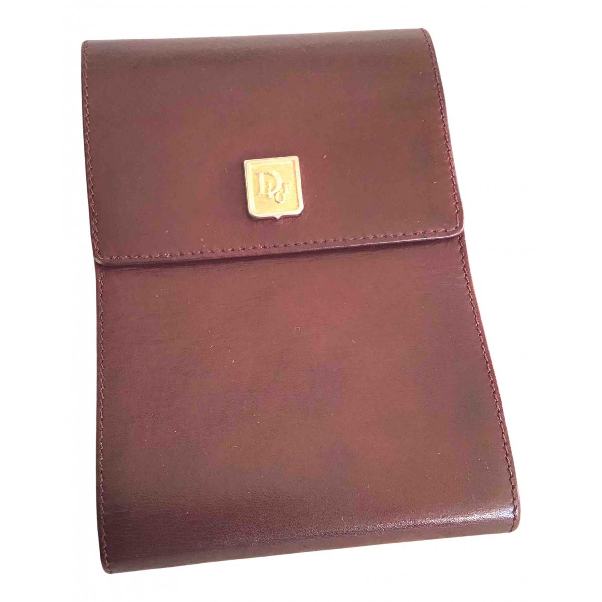 Dior - Portefeuille   pour femme en cuir - bordeaux