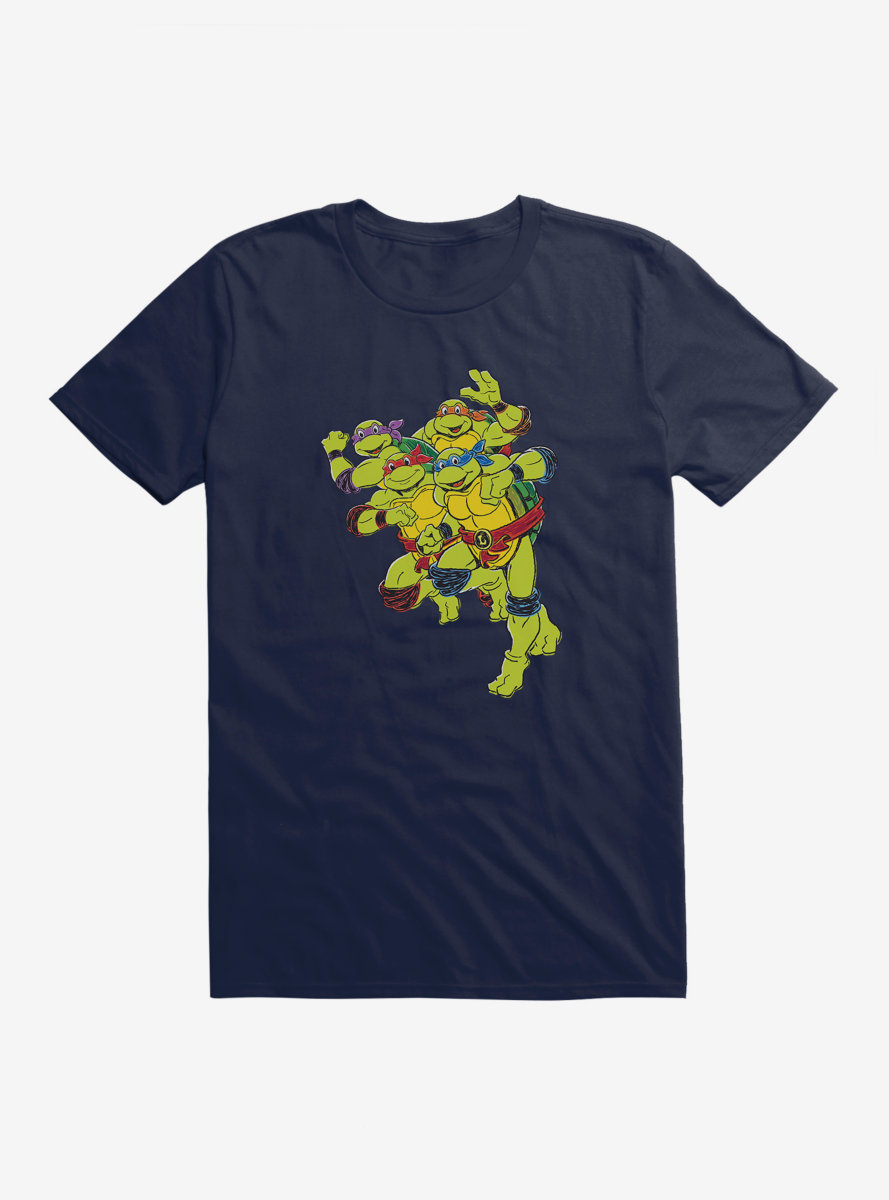 Teenage Mutant Ninja Turtles Group Running T-Shirt