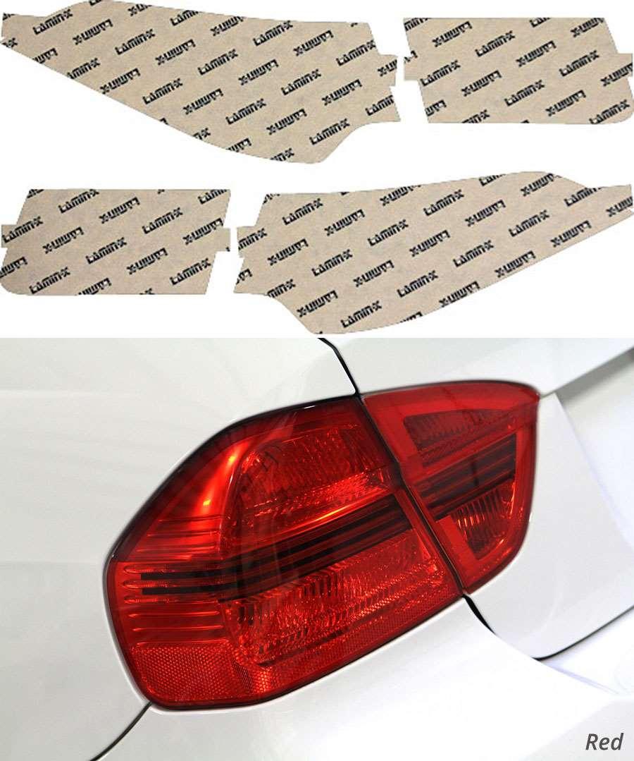 Acura TSX Sedan 09-14 Red Tail Light Covers Lamin-X AC215R