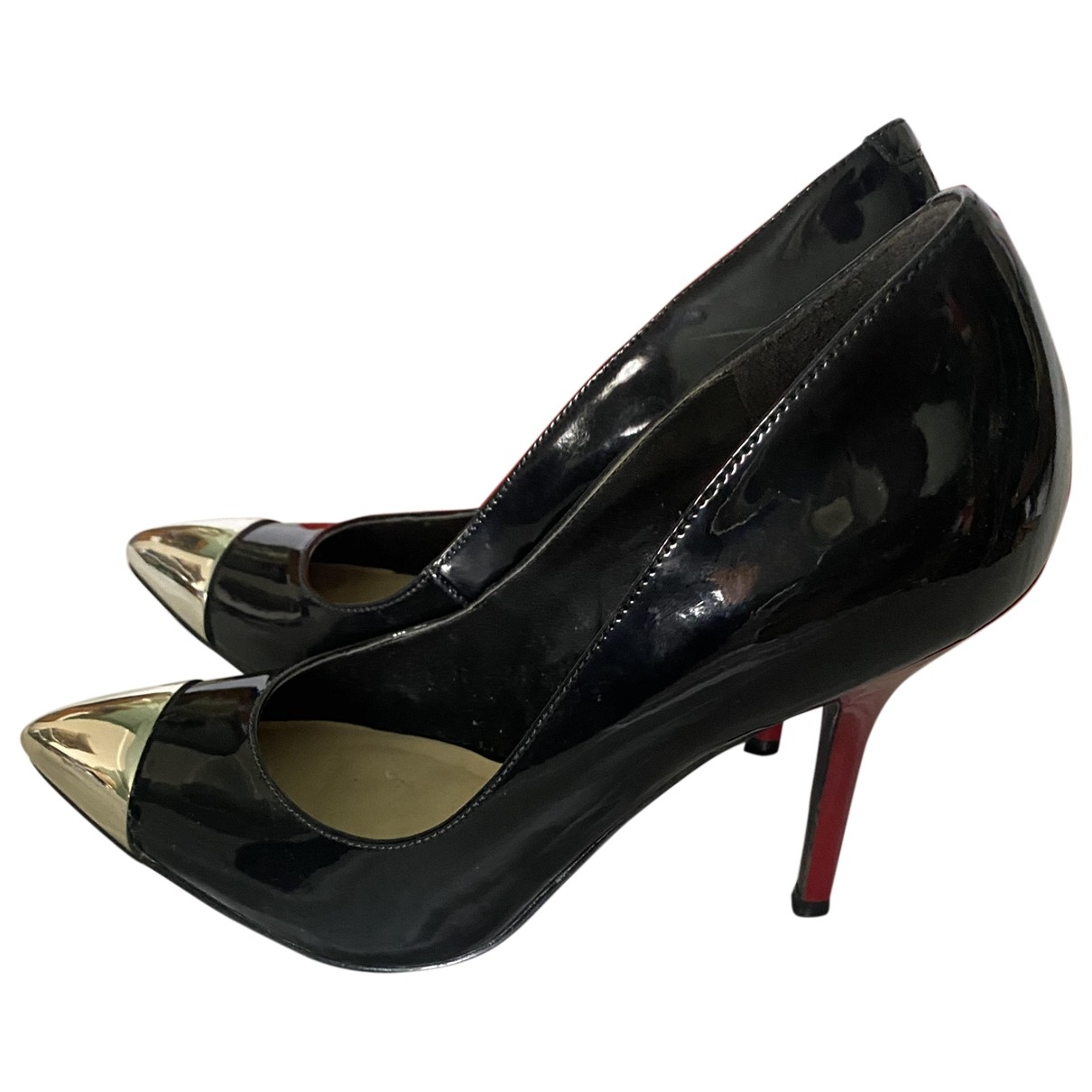 Guess \N Black Patent leather Heels for Women 7 US