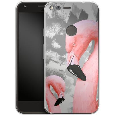 Google Pixel XL Silikon Handyhuelle - Flamingo Grey von Mukta Lata Barua