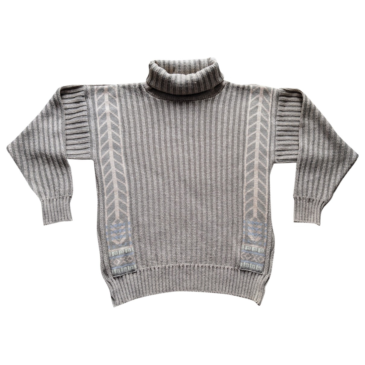 Non Signe / Unsigned Oversize Pullover in  Gruen Wolle