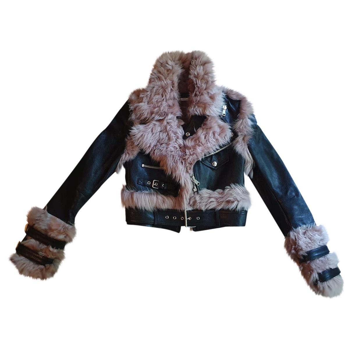 Alexander Mcqueen \N Multicolour Shearling Leather jacket for Women 36 IT
