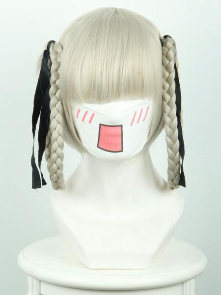 Milanoo Halloween Carnaval Peluca de disfraz de fibra resistente al calor para chicas Cosplay Color ligero de oro con peluca