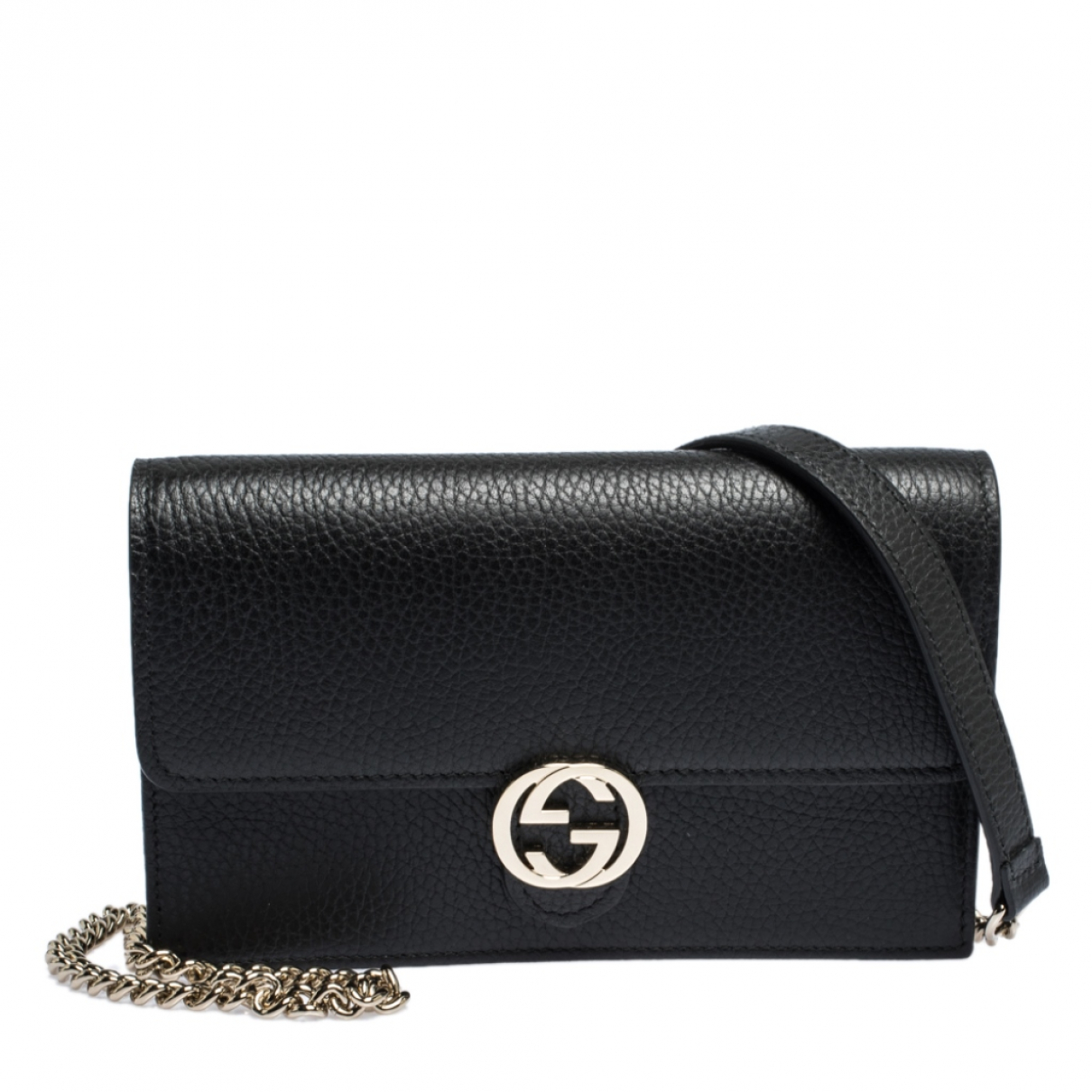 Gucci N Black Leather wallet for Women N