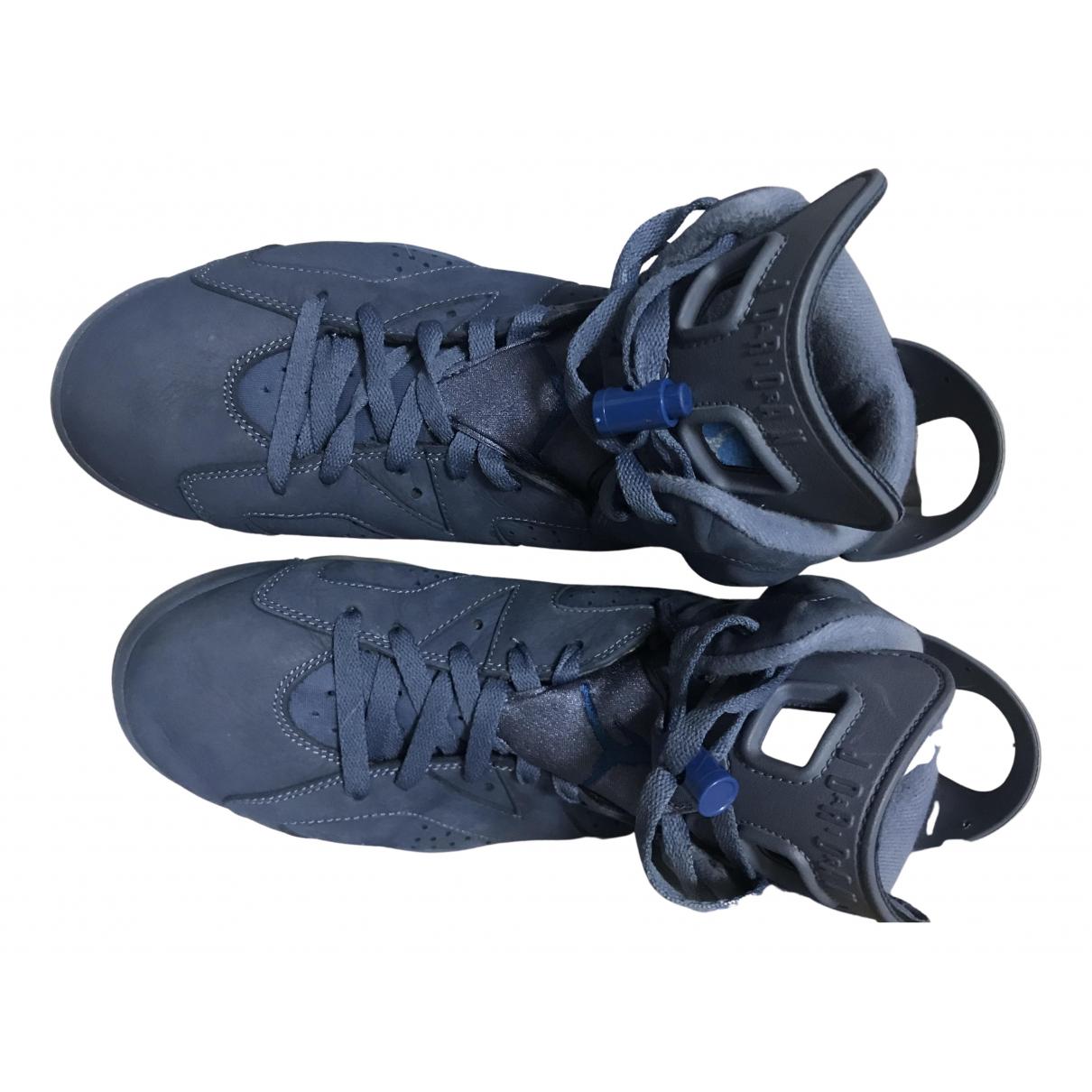 Jordan - Baskets Air Jordan 6  pour femme en suede - bleu