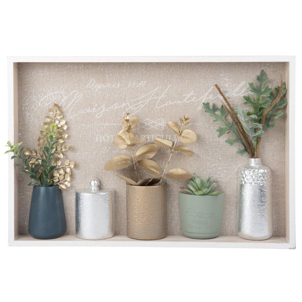 Bild Vasen und Blaetter 45x30