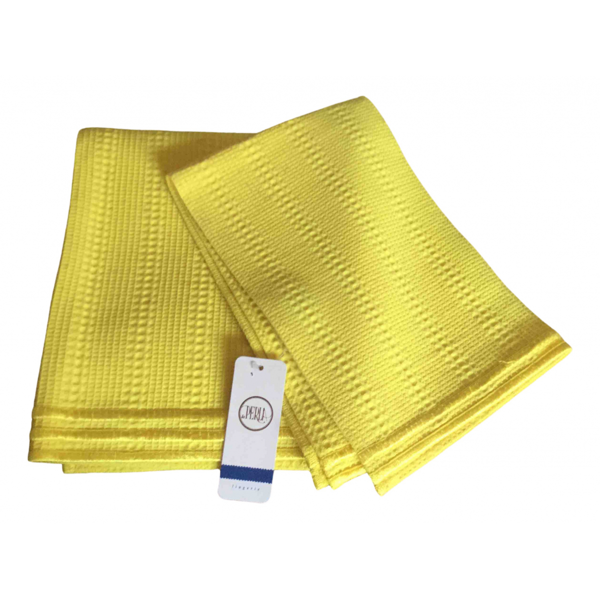 La Perla \N Yellow Cotton Textiles for Life & Living \N