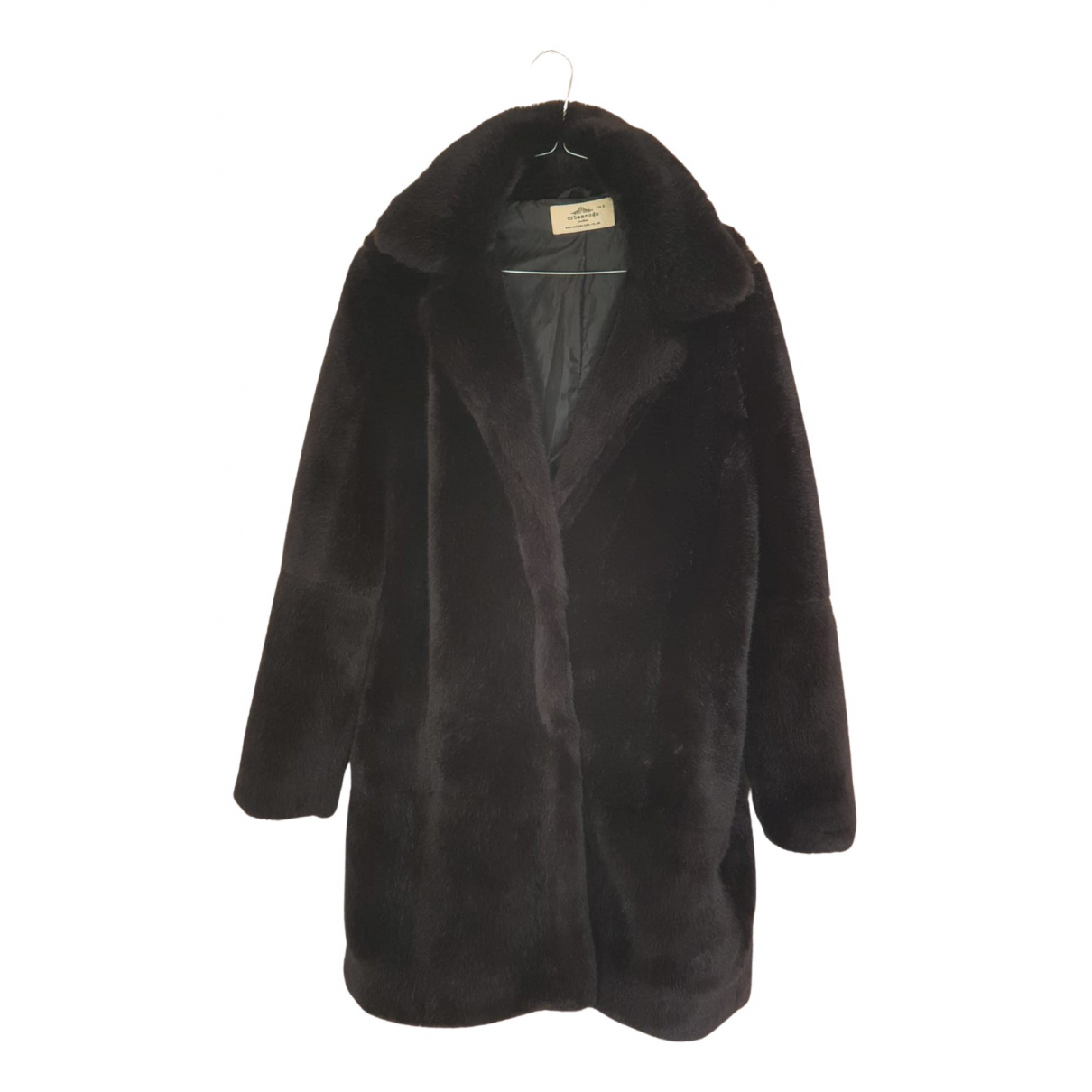 Urbancode - Manteau   pour femme en fourrure synthetique - noir