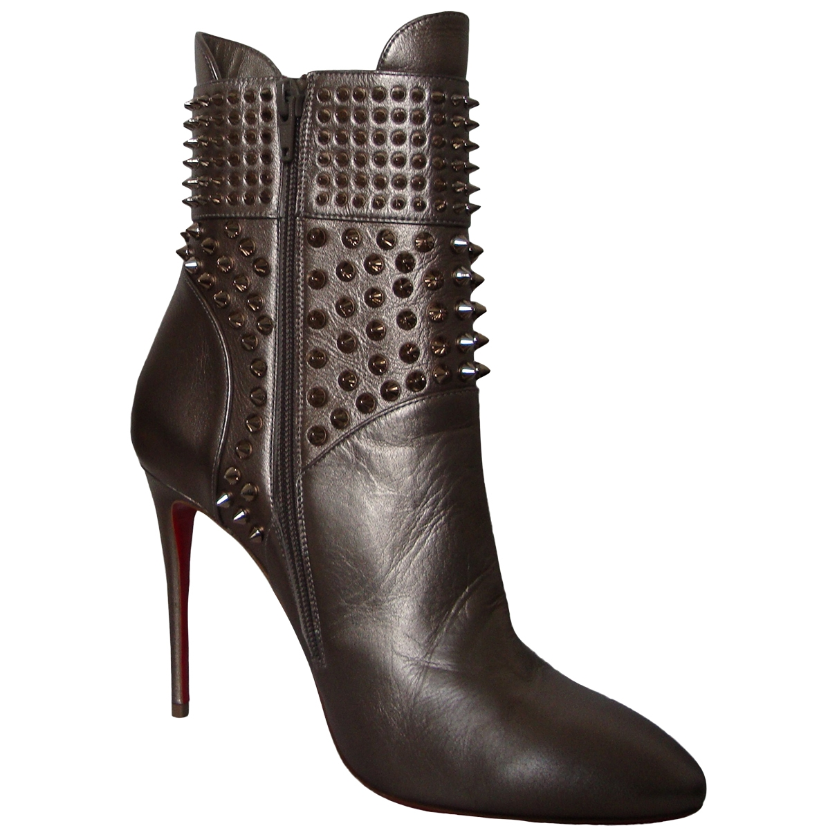 Christian Louboutin \N Metallic Leather Ankle boots for Women 38.5 EU
