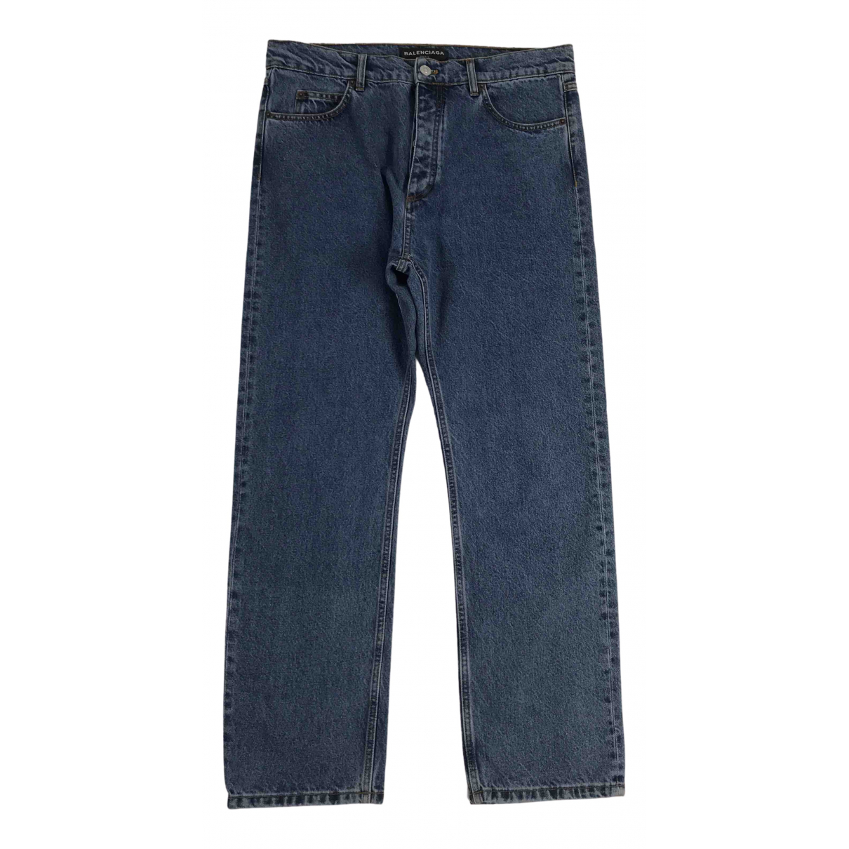 Balenciaga N Blue Cotton Jeans for Men 33 US