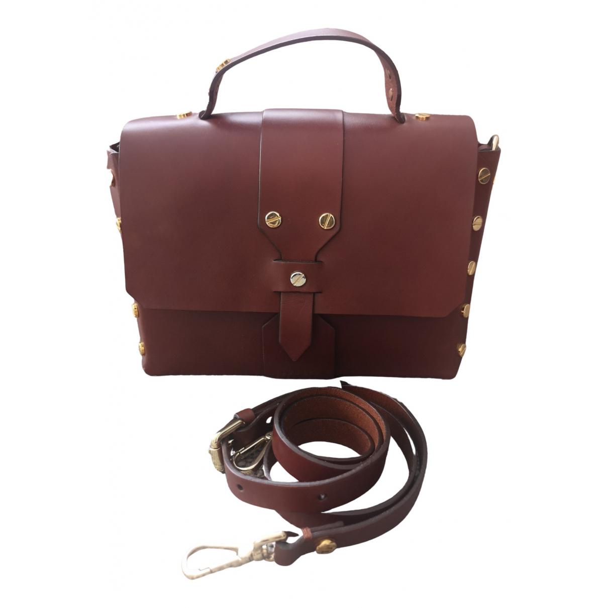 Sandro \N Burgundy Leather handbag for Women \N