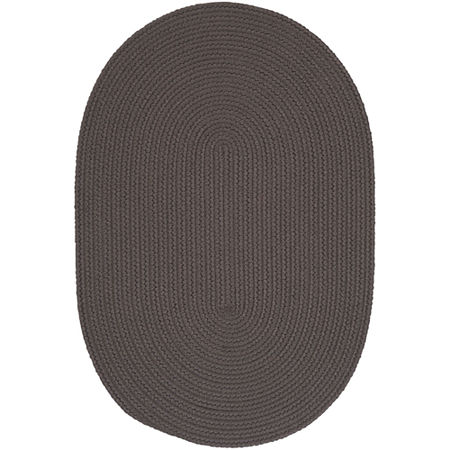 Colonial Mills Nantucket Reversible Braided Indoor/Outdoor Oval Rug, One Size , Gray