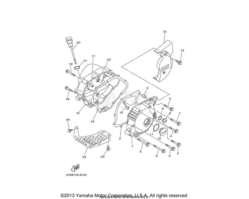 Yamaha OEM 4GL-15436-01-00 COVER, STARTING MOTOR | (5HN5)