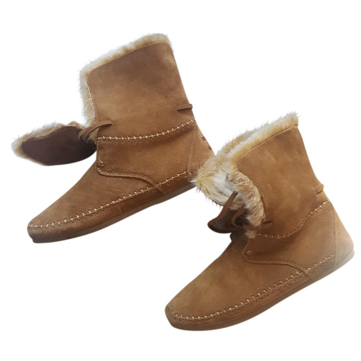 Toms - Bottes   pour femme en cuir - beige