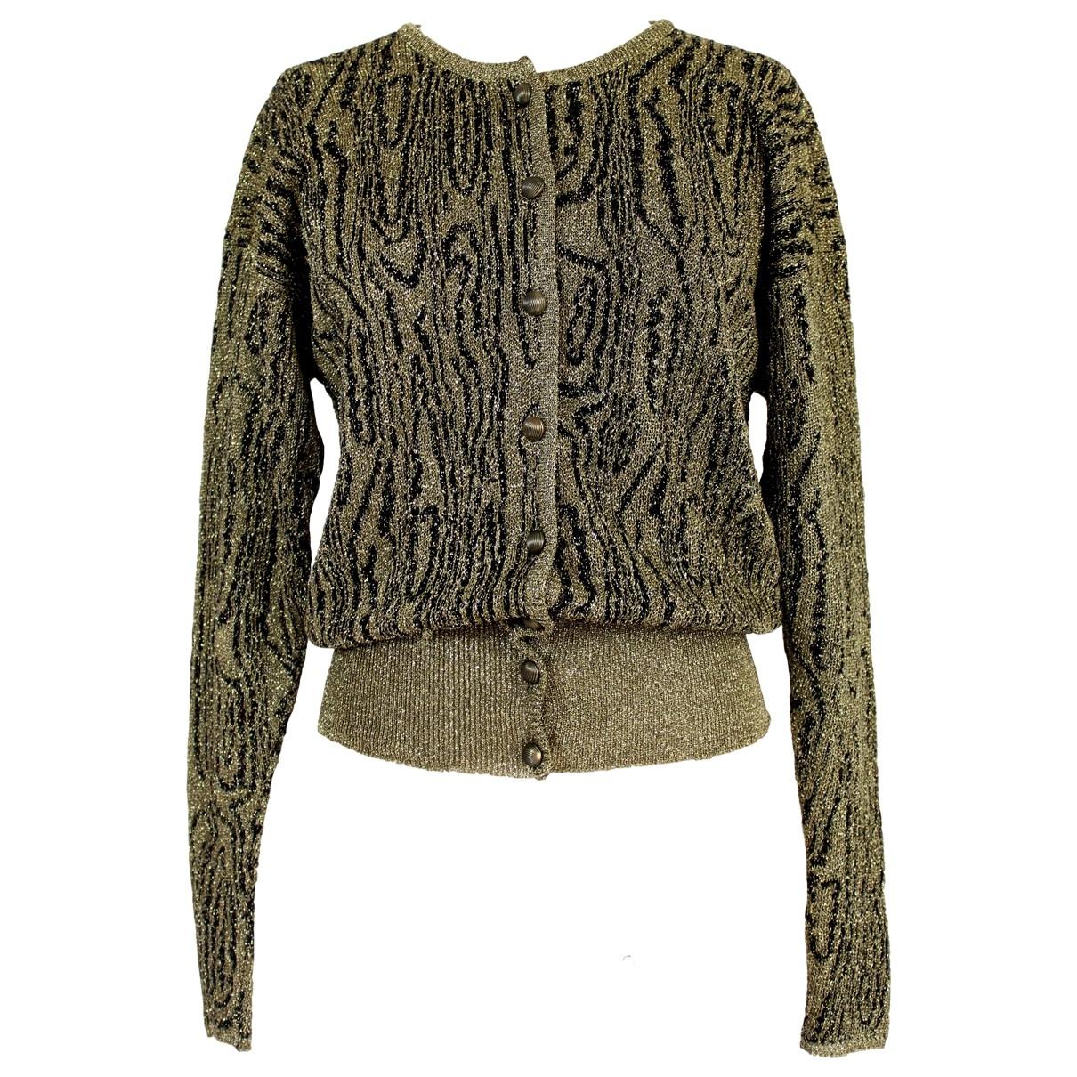 Krizia - Pull   pour femme en laine - dore