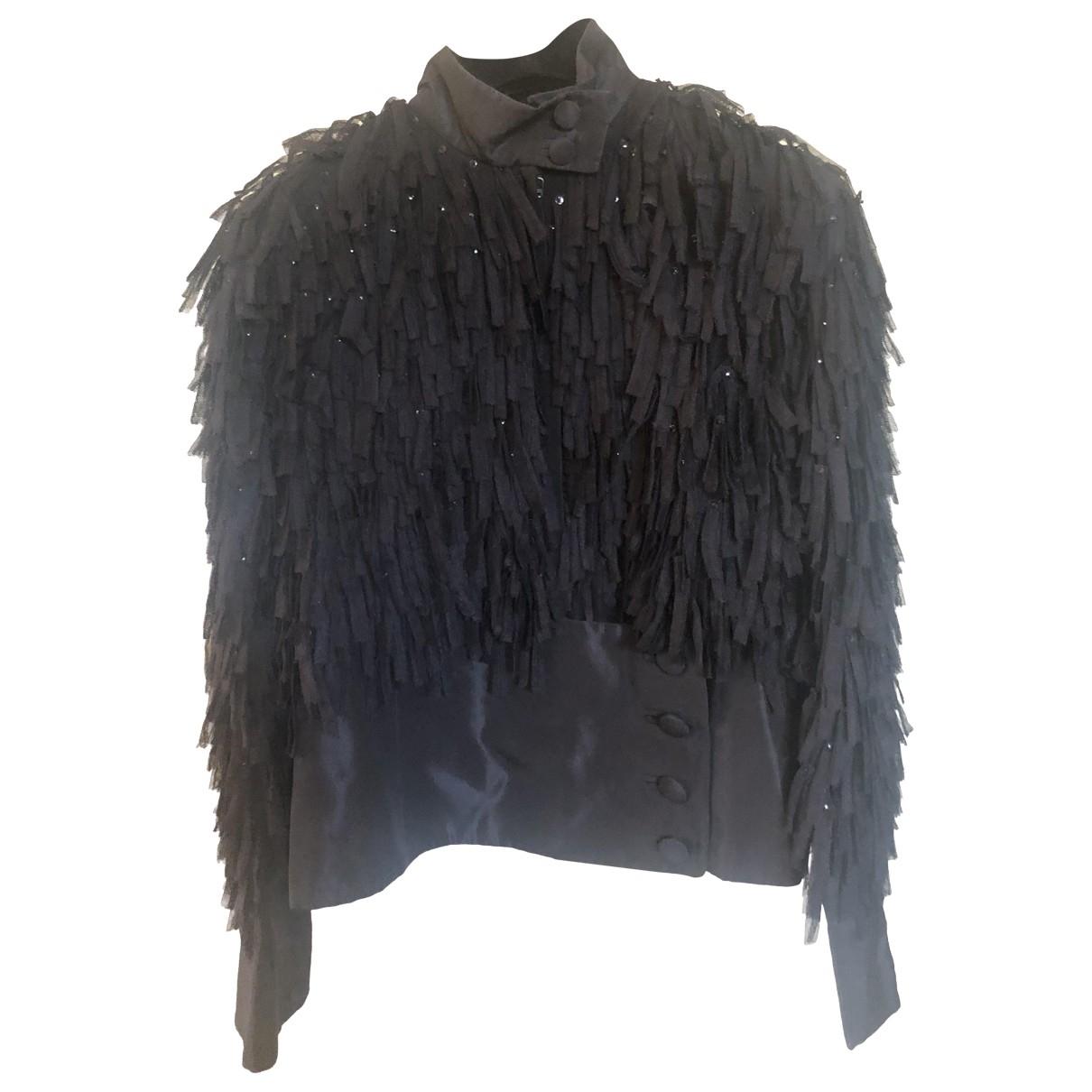 Ella Singh - Veste   pour femme en soie - noir
