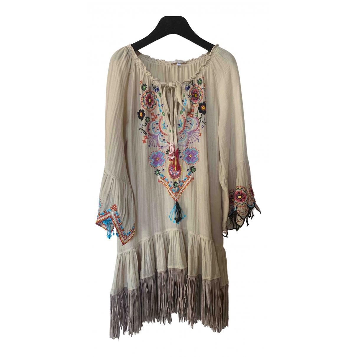 Anjuna \N Kleid in  Beige Baumwolle