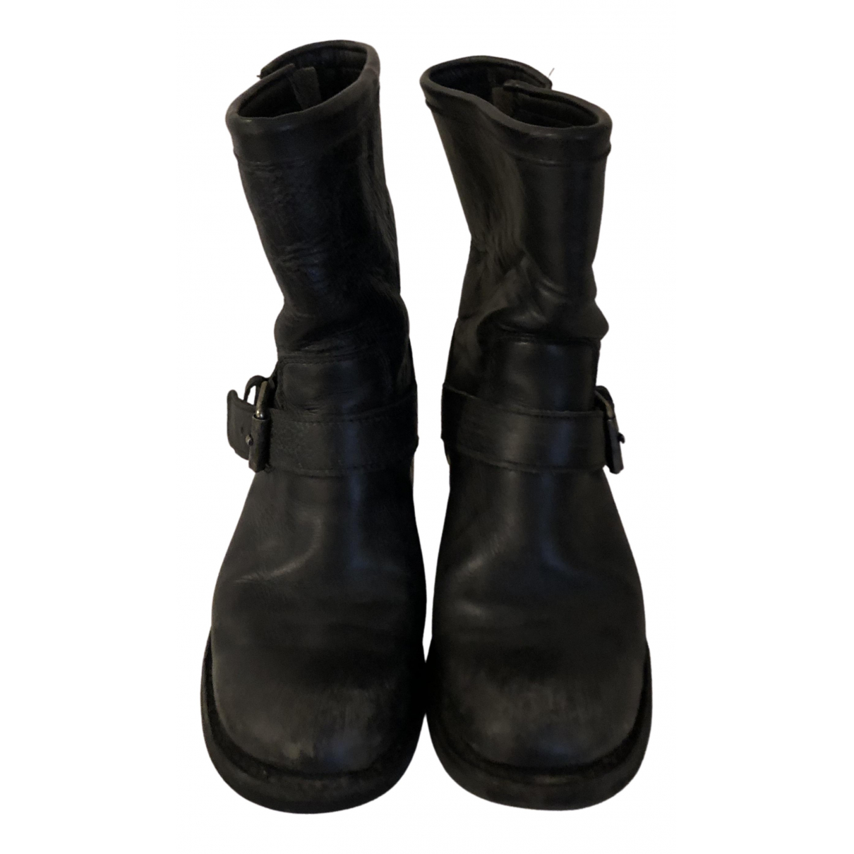 Ash N Black Leather Boots for Women 37 EU