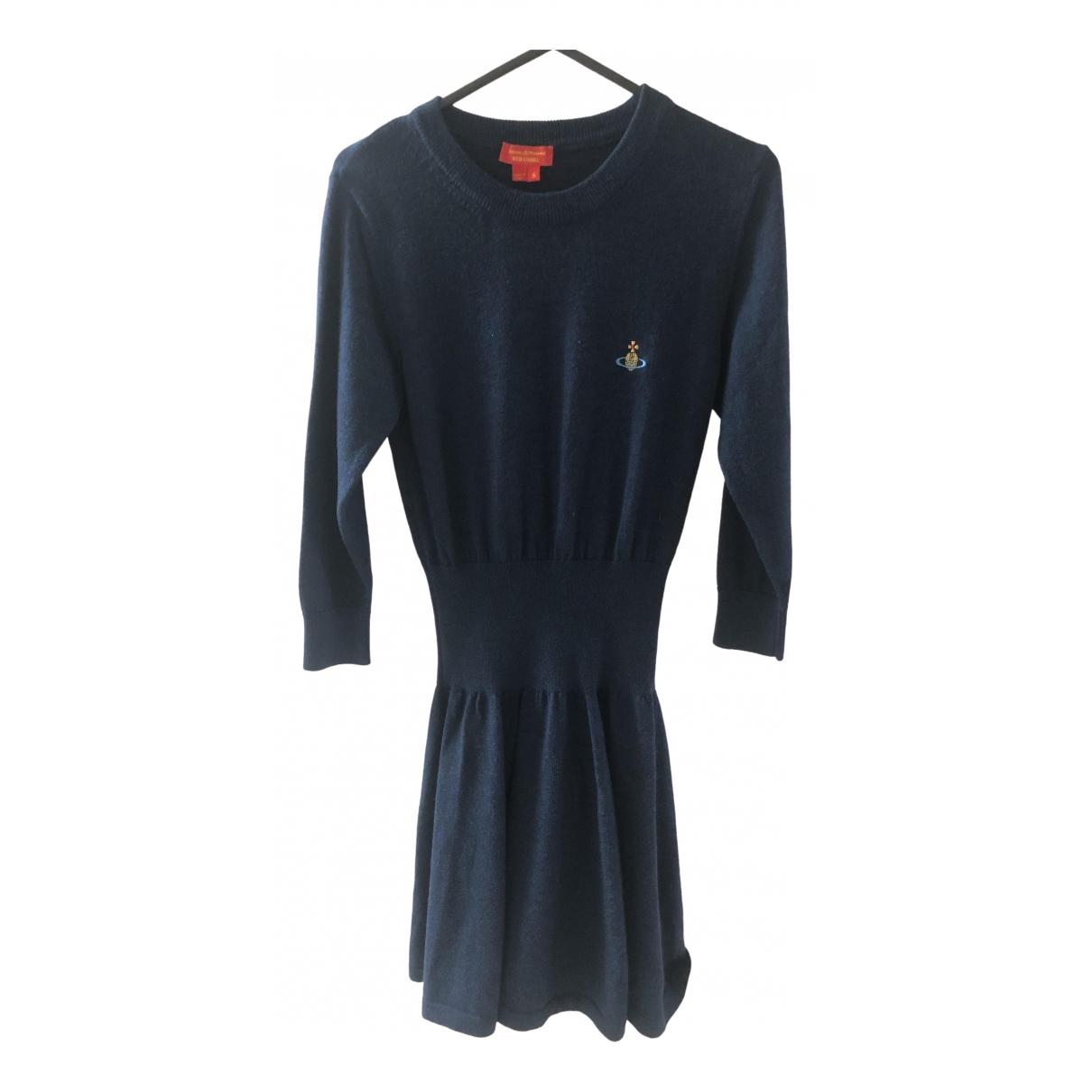 Vivienne Westwood Red Label - Robe   pour femme en laine - marine