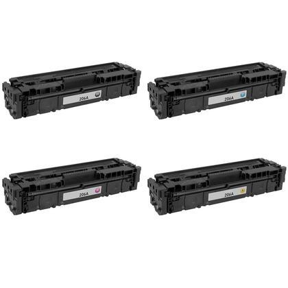 Compatible HP 206A W2110A W2111A W2112A W2113A Toner Cartridge Combo BK/C/M/Y - No Chip - Moustache®