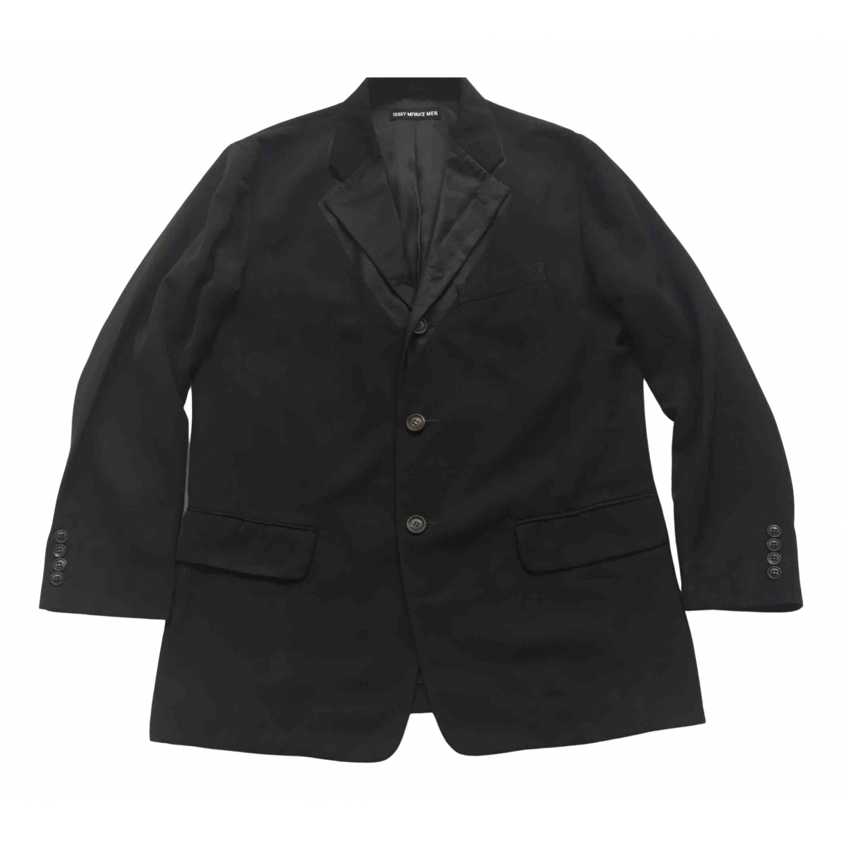 Issey Miyake \N Jacke in  Schwarz Polyester