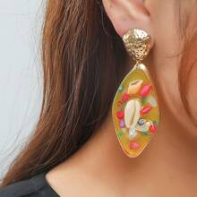 Ohrringe mit Muschel Dekor