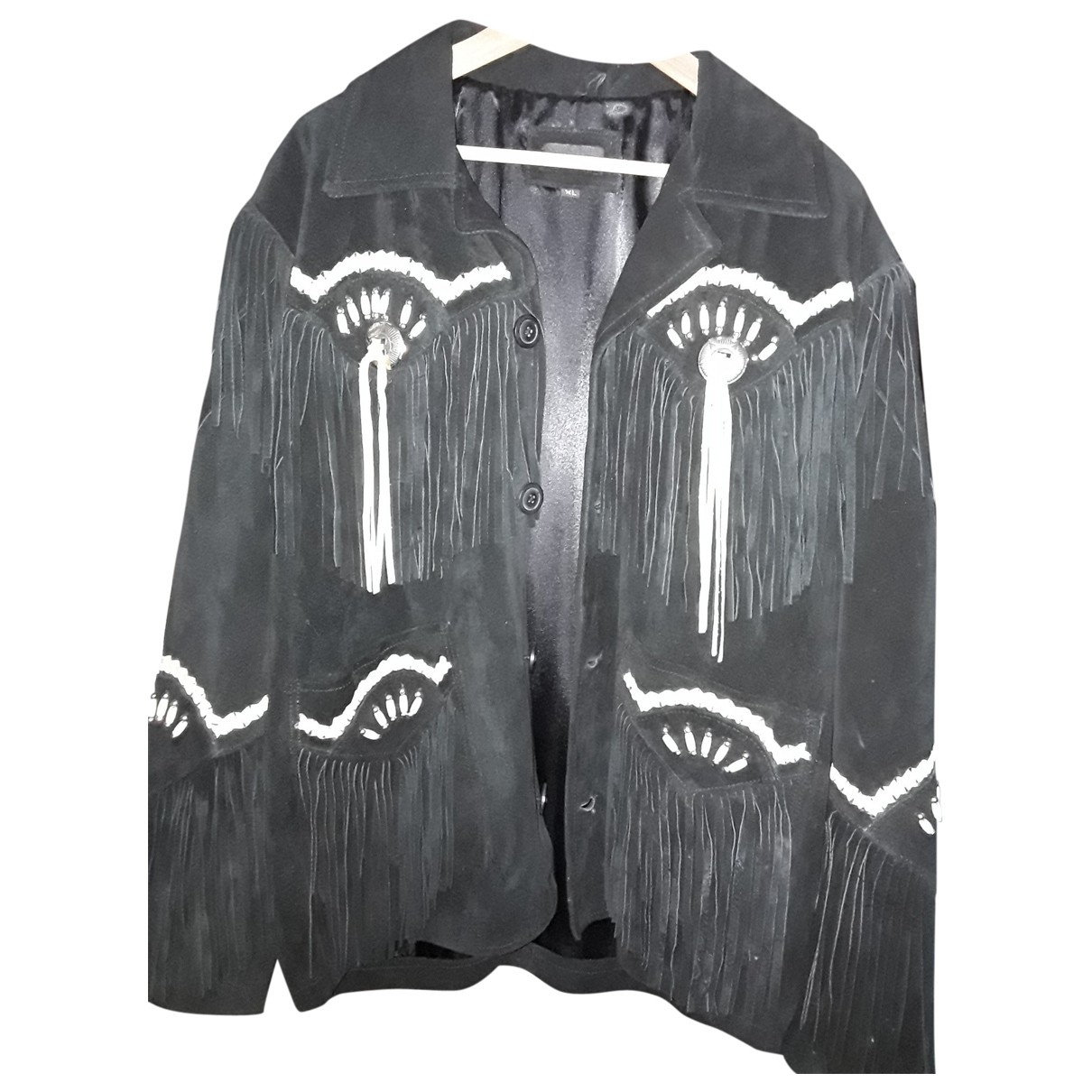 Non Signé / Unsigned \N Black Leather jacket  for Men XL International