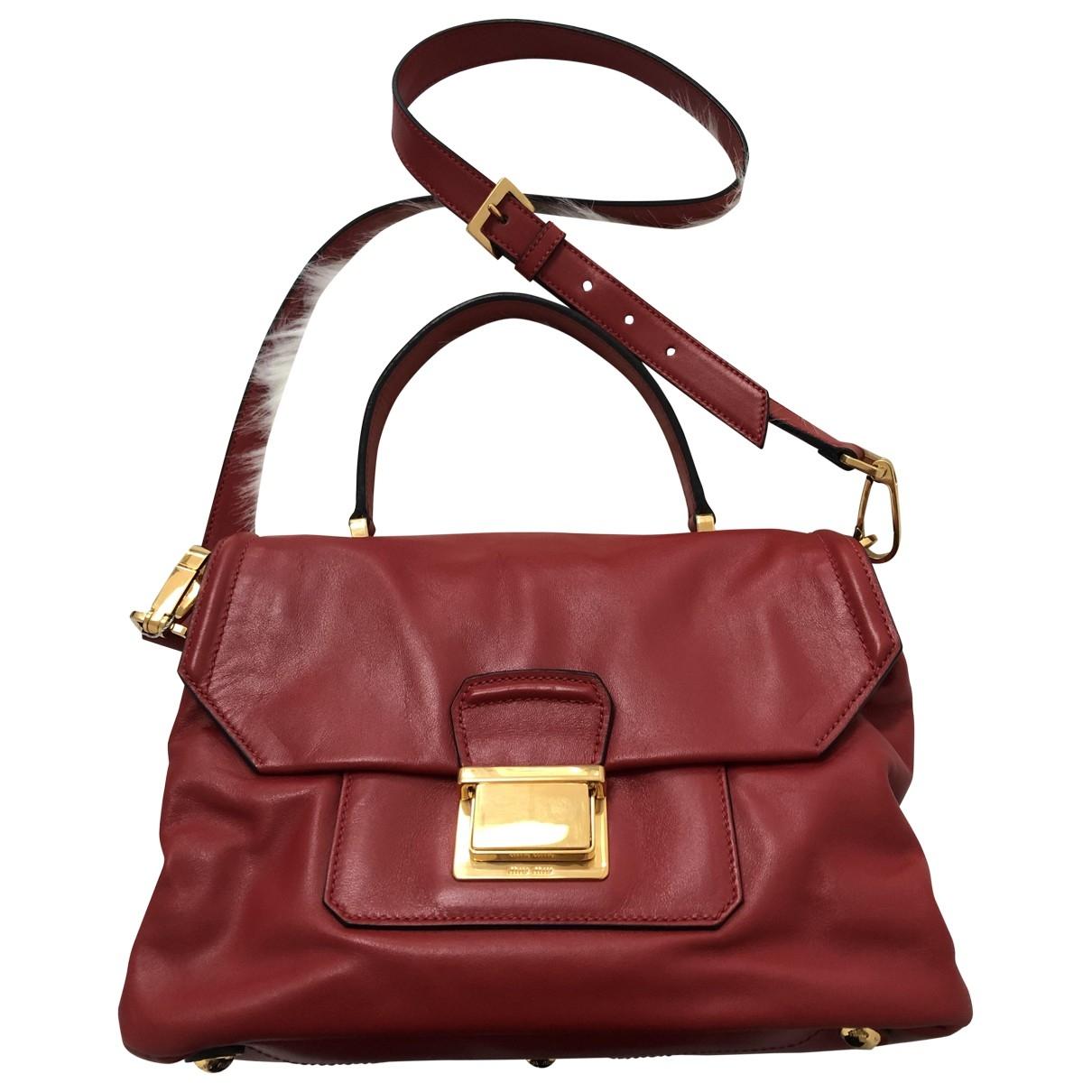 Miu Miu Madras Red Leather handbag for Women \N