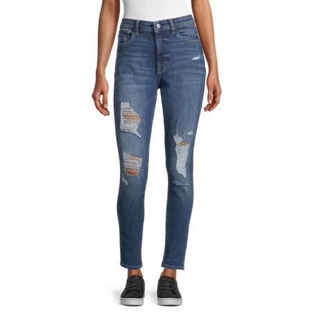 Arizona - Juniors Freeform Womens High Rise Skinny Fit Jean, 5 , Blue