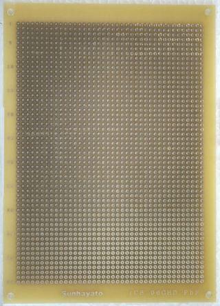 Sunhayato ICB-141GD-PBF, Single Sided Matrix Board FR4 with 0.9mm Holes 2.54 x 2.54mm Pitch, 180 x 130 x 1.6mm
