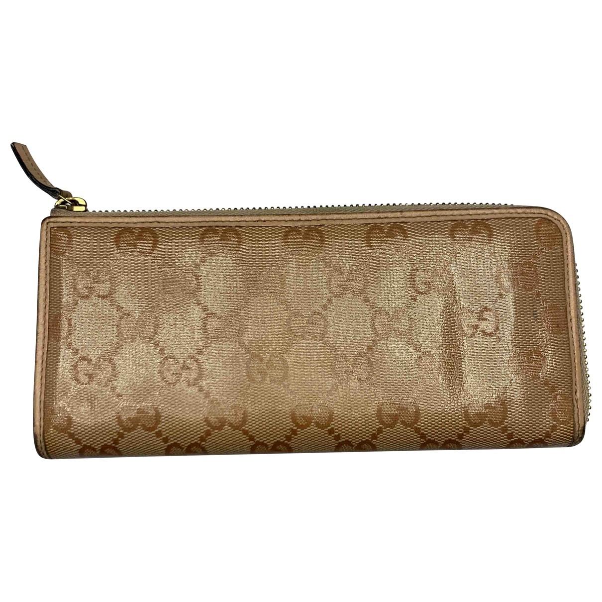 Gucci \N Portemonnaie in  Rosa Leinen