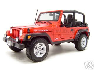 Jeep Wrangler Rubicon Red 1/18 Diecast Model Car by Maisto