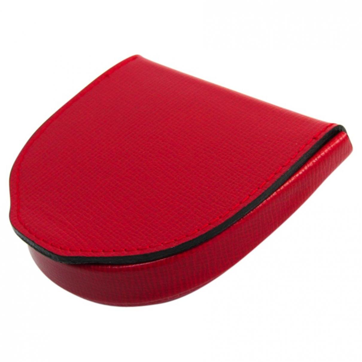 Valextra - Portefeuille   pour femme en cuir - rouge