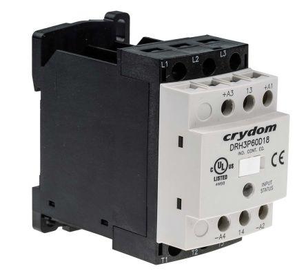 Sensata / Crydom 18 A rms Solid State Relay, Zero Crossing, DIN Rail, 600 V ac Maximum Load
