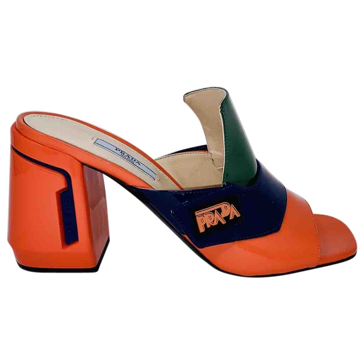 Prada \N Multicolour Patent leather Sandals for Women 39 IT