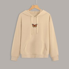 Sudaderas Tallas Grandes Bordado Animal Casual