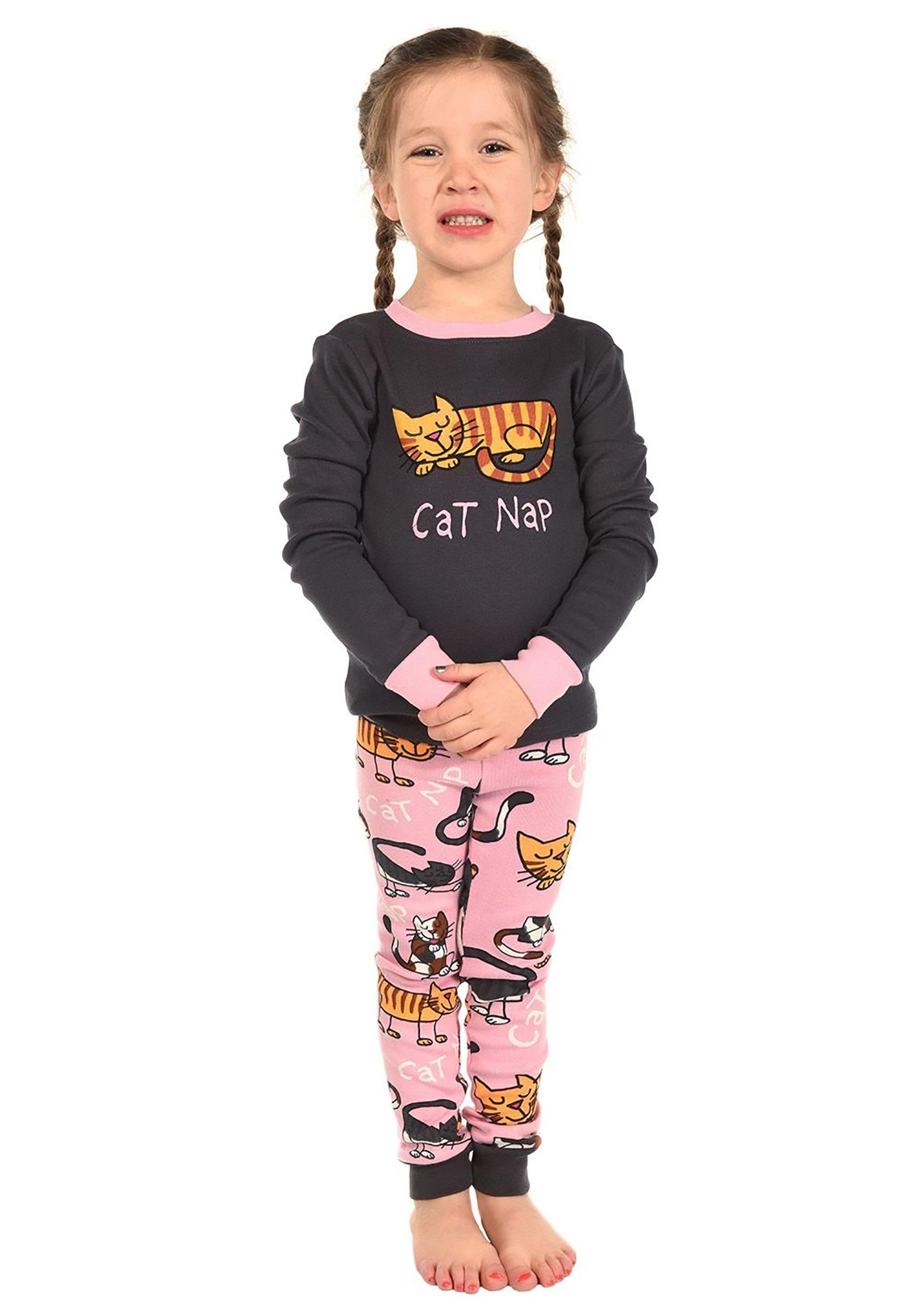 Child Cat Nap Long Sleeve Pajama Set