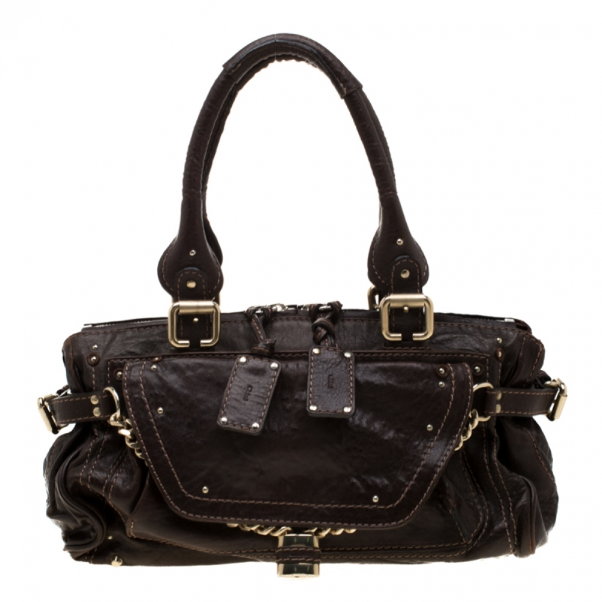 Chloé Paddington Brown Leather handbag for Women \N