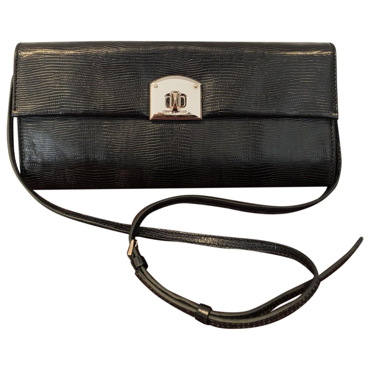 Sergio Rossi \N Handtasche in  Schwarz Leder