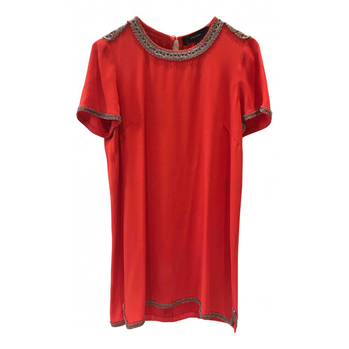 Isabel Marant \N Kleid in  Rot Viskose