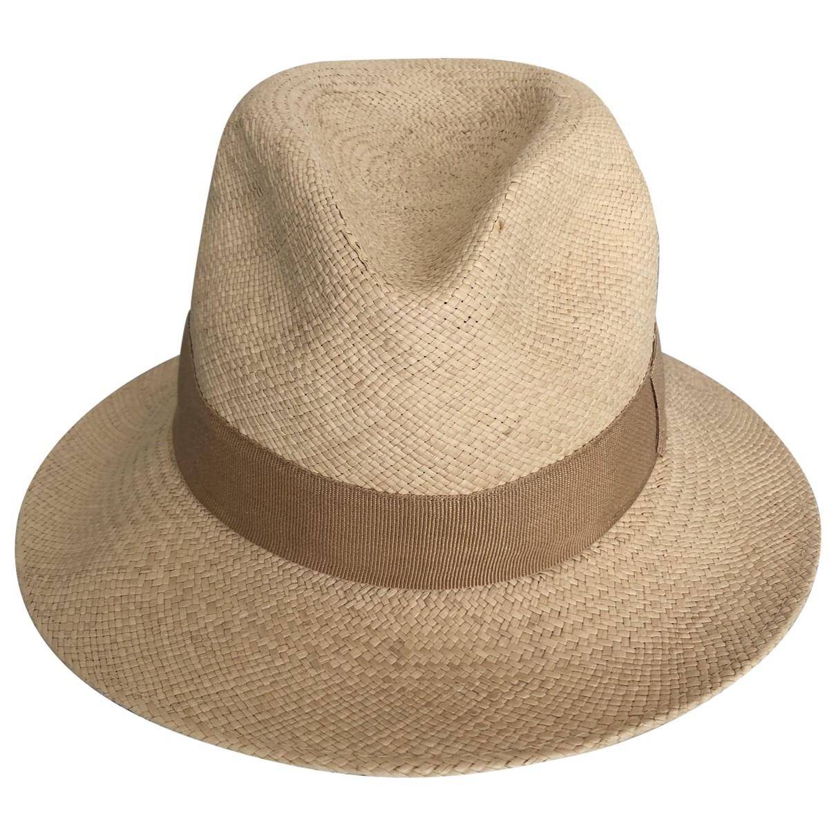 Sombreros en Paja Beige Blumarine