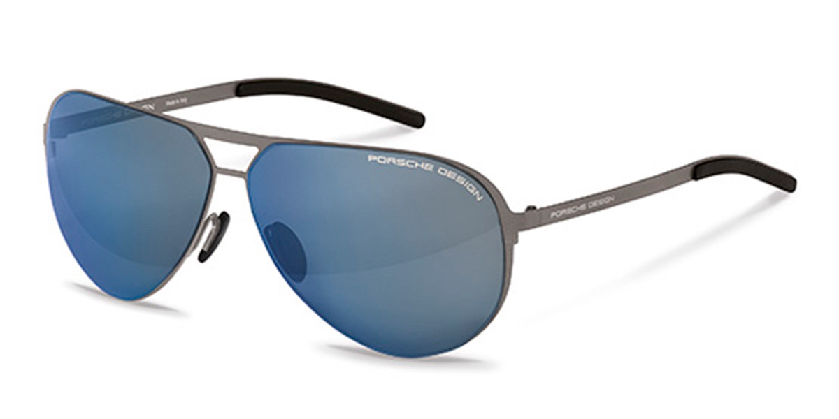 Porsche Design P8670 D Men's Sunglasses Grey Size 64