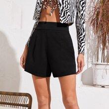 Split Side Seam Back Shorts